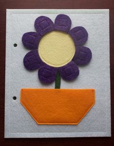 Quiet Book Page  Flower by KicksAndGrins on Etsy