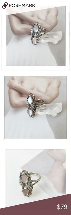Spotted while shopping on Poshmark: Vintage Navajo Sterling Silver MOP Feather Ring! #poshmark #fashion #shopping #style #Vintage Navajo #Jewelry