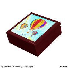 My Beautiful Balloons Jewelry Box by Jan4insight on Zazzle > SOLD a customized gift box! 11.30.17
