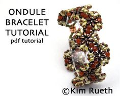 Beading Tutorial for Ondule Bracelet with Super di KnotJustBeads
