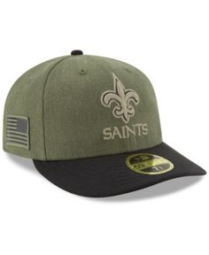 0eaf75cd99524 New Era New Orleans Saints Salute To Service Low Profile 59FIFTY Fitted Cap  2018 - Green