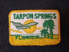 Tarpon Springs Florida Travel Patch by HeydayRetroMart on Etsy, $5.00