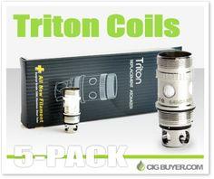 Aspire Triton Replacement Coils (5-Pack) – $13.20: http://www.cigbuyer.com/aspire-triton-tank-replacement-coils/ #ecigs #subohm #vaping #aspiretriton #tritontank #vapelife #vapedeals
