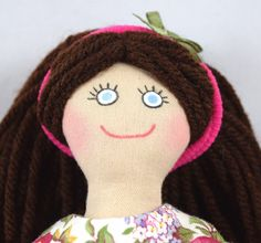 Brunette Dress Up Doll  Toy Doll for Kids by JoellesDolls on Etsy