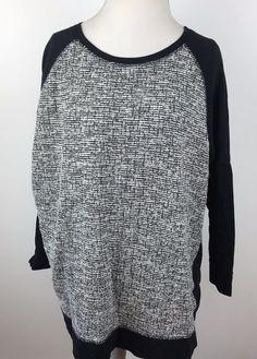 Liz Claiborne Shirt size 2X Plus Black Top Cotton Blend Long Sleeve Blouse #LizClaiborne #Blouse