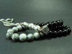 Turkish Islamic 33 Prayer Beads Zebra Jasper & by GreenPalace