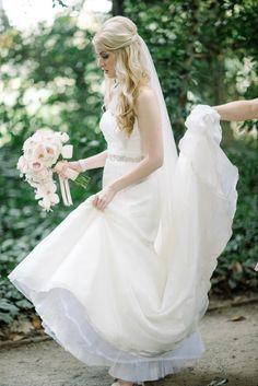 Glittered Charleston Wedding hair and flowers