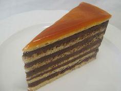 FarkasVilmos: Az eredeti dobostorta, The original Dobos Cake Hungarian Desserts, Hungarian Cake, Hungarian Recipes, Hungarian Food, Hungarian Cuisine, Dobos Cake Recipe, Food Cakes, Cupcake Cakes, Cake Recipes