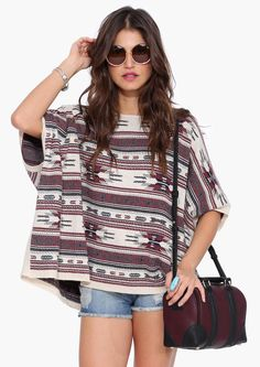 Akeelah Poncho Sweater