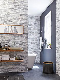 Plaquette de parement sur adib-lithos.com. Pierre naturelle, béton ou plâtre.