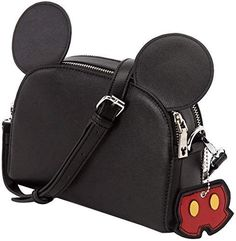 New GRACEGIFT Disney Double-Layer Pouch Crossbody Shoulder Bag with Mickey Ears, Gift Box for Women and Girl. fashion womens Handbags [$51.99]topnewshop #handbags51