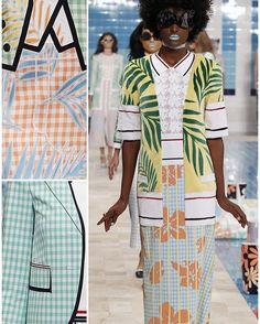 Thom Browne - New York Fashion Week: Ready To Wear Spring 2017 Print Highlight. Patternbank are loving the latest SS17 collection from Thom Browne. Fifties luxury tropical cruise style, with checkerboard patterns, striking appliquéd graphic ferns and bold hibiscus florals.🌺 #printdesign #spring17 #springfashion #newyorkfashionweek #nyfw #prints #pattern #catwalkshow #runwayshow #wearepremierevision #ss17