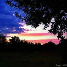 American flag sunset