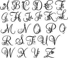 Monogramm Buchstabe s Letter C Tattoo, Monogram Tattoo, Initial Tattoo, Monogram Fonts, Letter Monogram, Monogram Styles, Tattoo Lettering Fonts, Hand Lettering Alphabet, Calligraphy Letters