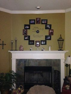 Love this fireplace idea!! #uppercaseliving