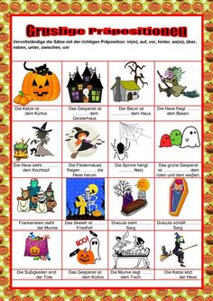 halloween easy german halloween worksheets german grammar und learn german. Black Bedroom Furniture Sets. Home Design Ideas