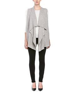 Rue La La — Vince Drape Wool & Cashmere Blend Sweater Vest
