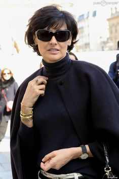 Ines De La Fressange , Arrivees , People , Defile de mode Pret,a,