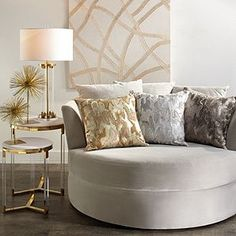 Cuddler Chair from Z Gallerie Living Room Chairs, Living Room Decor, Bedroom Decor, Glam Living Room, Dining Chairs, Dining Room, Elegant Living Room, Lounge Chairs, Cuddler Chair