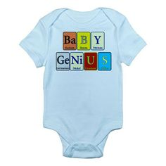 Baby Genius Infant Onsie  designed with Periodic by PeriodycDesign, $24.00