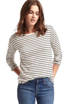 gap-white-and-black-stripe-top