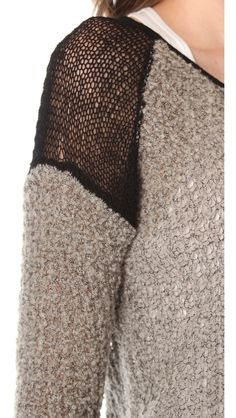 diy / recycling project idea inspiration: Helmut Lang Flecked Boucle Sweater