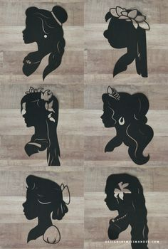 ~ SILHOUETTES ~ Disney Princess Silhouettes