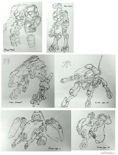 ArtStation - Mecha Rough Sketch _ 01, Jae seung Cho