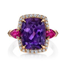 Omi Prive: Spinel and Ruby Ring