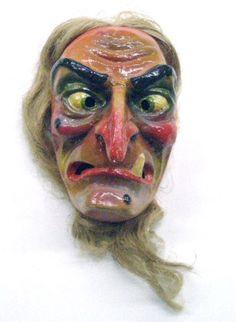 1950s Halloween, Halloween Masks, Vintage Halloween, Halloween Decorations, Halloween Face Makeup, Charlie Brown Halloween, Cardboard Mask, Witch Pictures, Plastic Mask