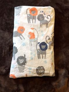 Pottery Barn Kids Brady Blue Gray Orange Lion Crib Fitted Sheet Organic Cotton #PotteryBarnKids Orange Bedding, Grey Bedding, Boy Nursery Bedding Sets, Blue Grey, Gray, Pottery Barn Kids, Bedding Collections, Cribs, Organic Cotton