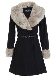 Belted Fit And Flare Coat