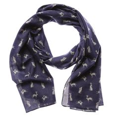 RSPCA NAVY HARE SCARF | Gifts for Her, | Animal Lovers Gifts