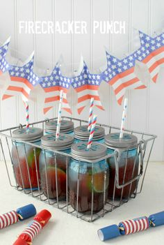 Firecracker Punch for a patriotic holiday like the 4th of July- BoulderLocavore.com #celebrate #IndependenceDay