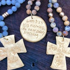 This is the most beautiful and encouraging jewelry. My friend Ashley started this business and I've become a part of the team and couldn't feel more blessed and honored. New Every Morning, Christian Gifts For Women, Identity In Christ, Christian Jewelry, Bracelet Making, Blessed, God, Business, Handmade