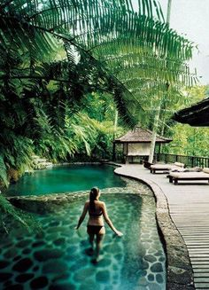 Como Shambhala Estate, Bali~oh how heavenly I see myself in that same pool as that lady. Yes I DO get to be in that same exact pool at that Estate in Bali :) Places Around The World, Oh The Places You'll Go, Places To Travel, Places To Visit, Around The Worlds, Ubud, Vacation Destinations, Dream Vacations, Vacation Spots