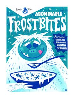 Abominable Snowman Cereal Box Paintings