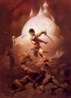 """Frank Frazetta's """"John Carter, Warlord of Mars"""". Description from pinterest.com. I searched for this on bing.com/images"""