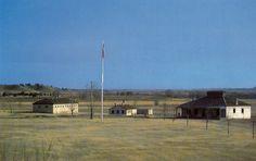 1960's Historic fort Laramie Wyoming postcard. Hagins collection.