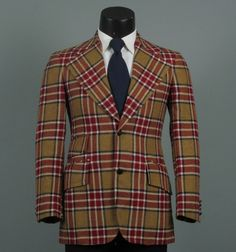 Vintage Mens Sport Coat 1960s NUTMEG and by jauntyrooster on Etsy, $85.00
