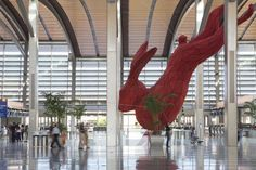 Giant Red Rabbit at Sacramento International Airport