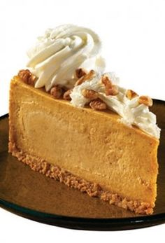 Pumpkin Cheesecake Recipe from the Cheesecake Factory. Just in time for Halloween and other Fall/Winter holidays!