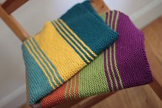 Simply Stripes Baby/Lap Blanket By Elizabeth Smith - Free Knitted Pattern - (ravelry)