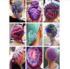 Amazing hair styles and so many pretty colours