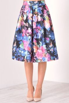 Ella Floral Skirt in Black What To Wear To A Wedding, How To Wear, Occasion Wear, Floral, Skirts, Shopping, Collection, Black, Women