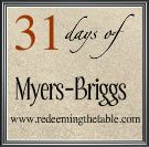 31 Days of Myers-Briggs :: Day 4 Intro to the Four Types — Redeeming the Table