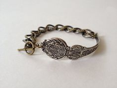 Mississippi Spoon Bracelet in Antique Brass by GeorginaBaker, $36.00