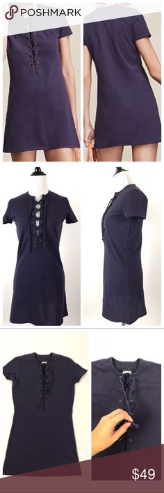 """Reformation lace up Caroline mini dress sz Xxs Reformation purple lace up Caroline mini dress in size Xxs. Made in the USA. In good preowned condition  • armpit to armpit about 18""""  • Shoulder to shoulder about 14""""  • Length about 32"""" Reformation Dresses Mini"""