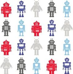 Wallpaper - Space Robot - Great for Kids Rooms