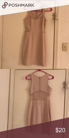1c8ee4a0fd36f0 Nude Express Dress Size 2 dress with mesh cut outs from Express Express  Dresses Mini
